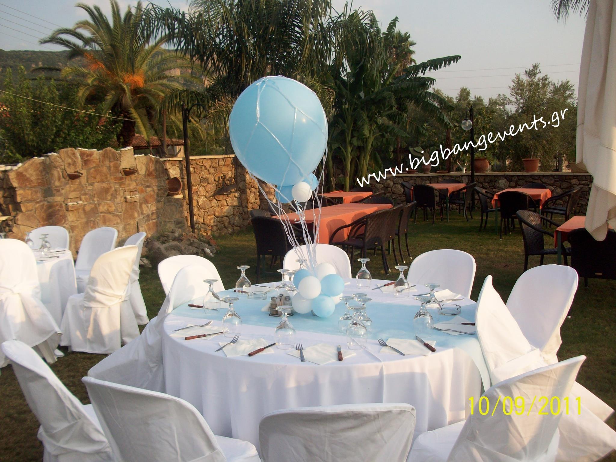 Αερόστατο στο τραέζι των καλεσμένων